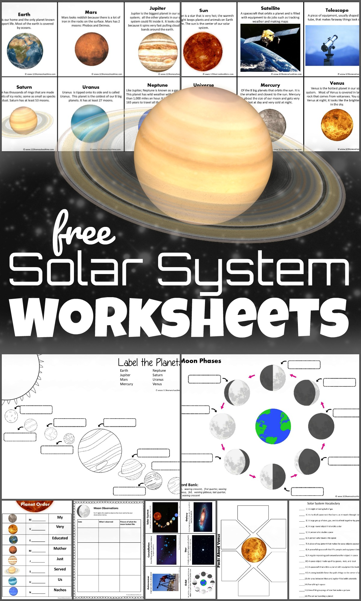 hight resolution of FREE Solar System Worksheets for Kids