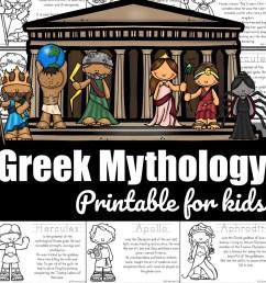 FREE Greek Mythology for Kids Printable Book [ 988 x 988 Pixel ]