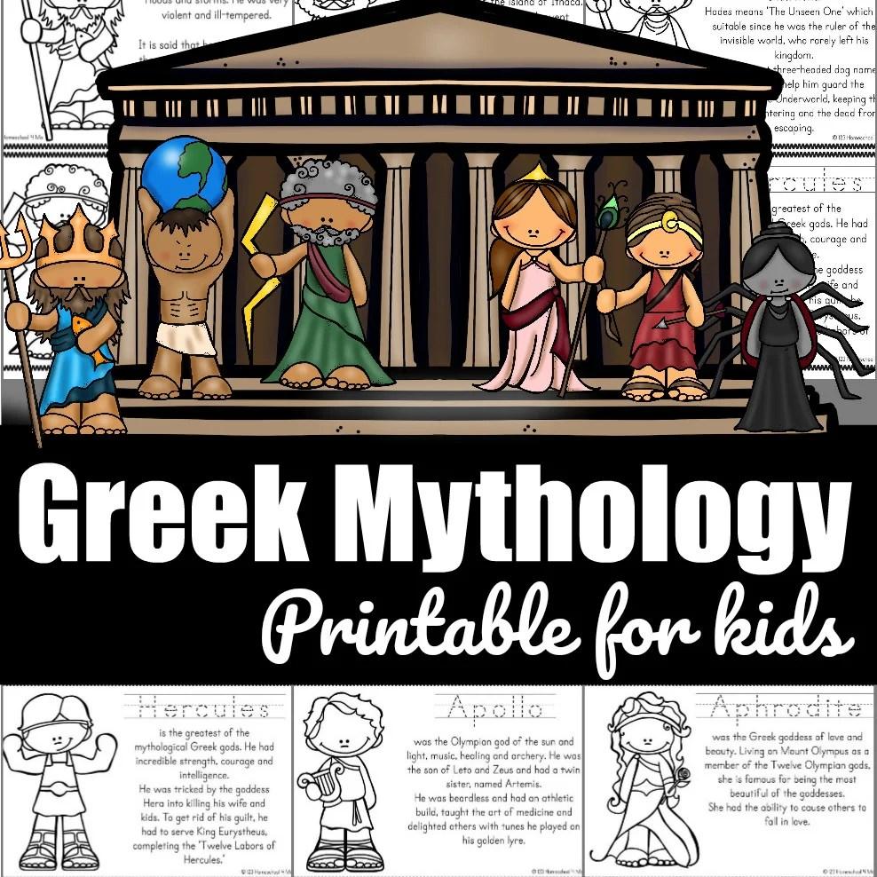 hight resolution of FREE Greek Mythology for Kids Printable Book