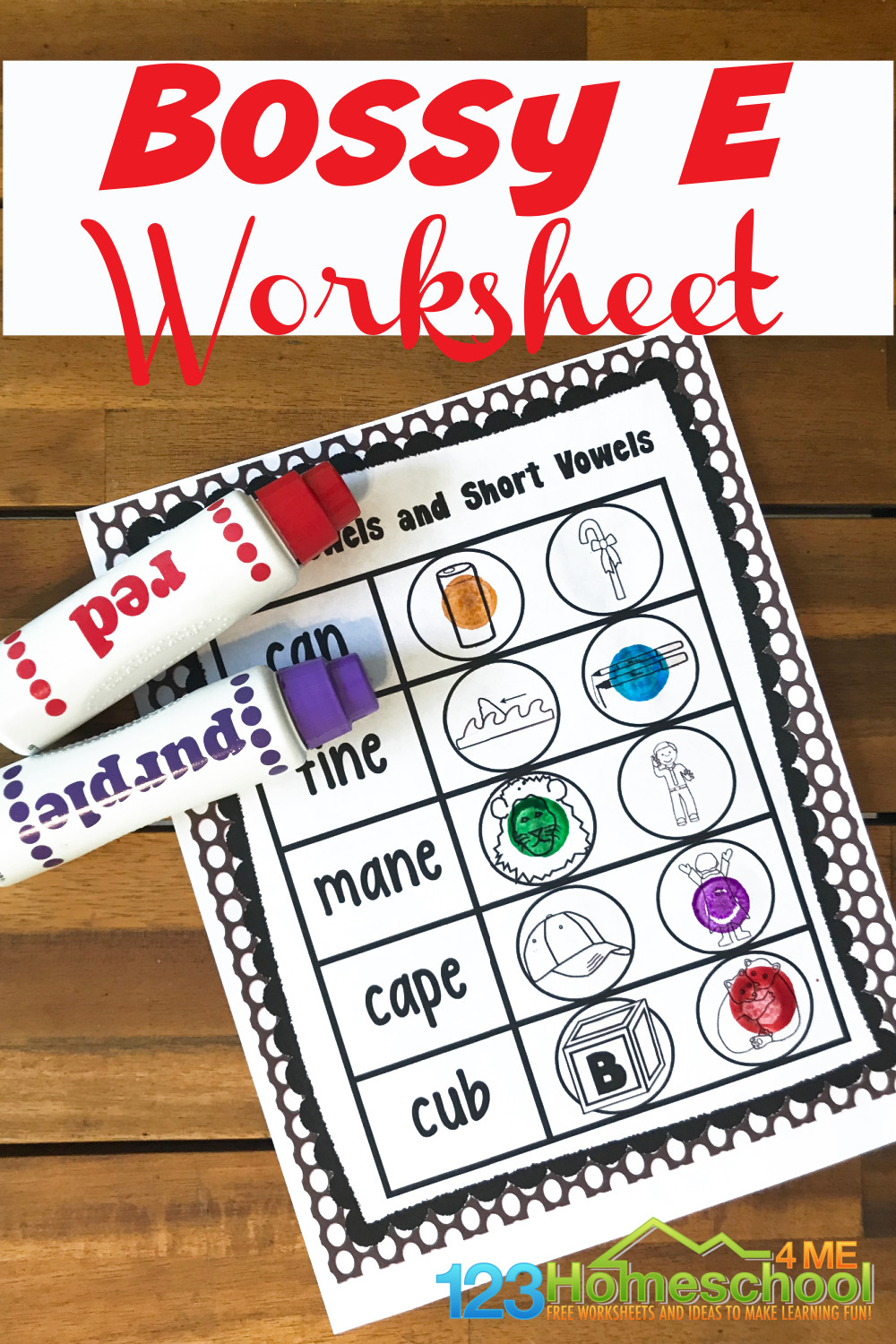 hight resolution of FREE Bossy E Worksheets