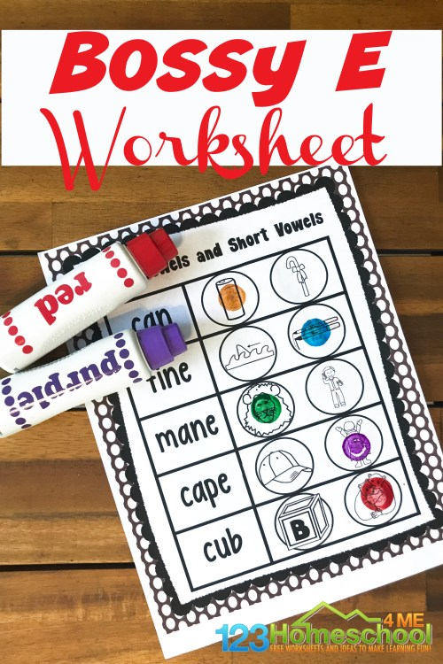 small resolution of FREE Bossy E Worksheets