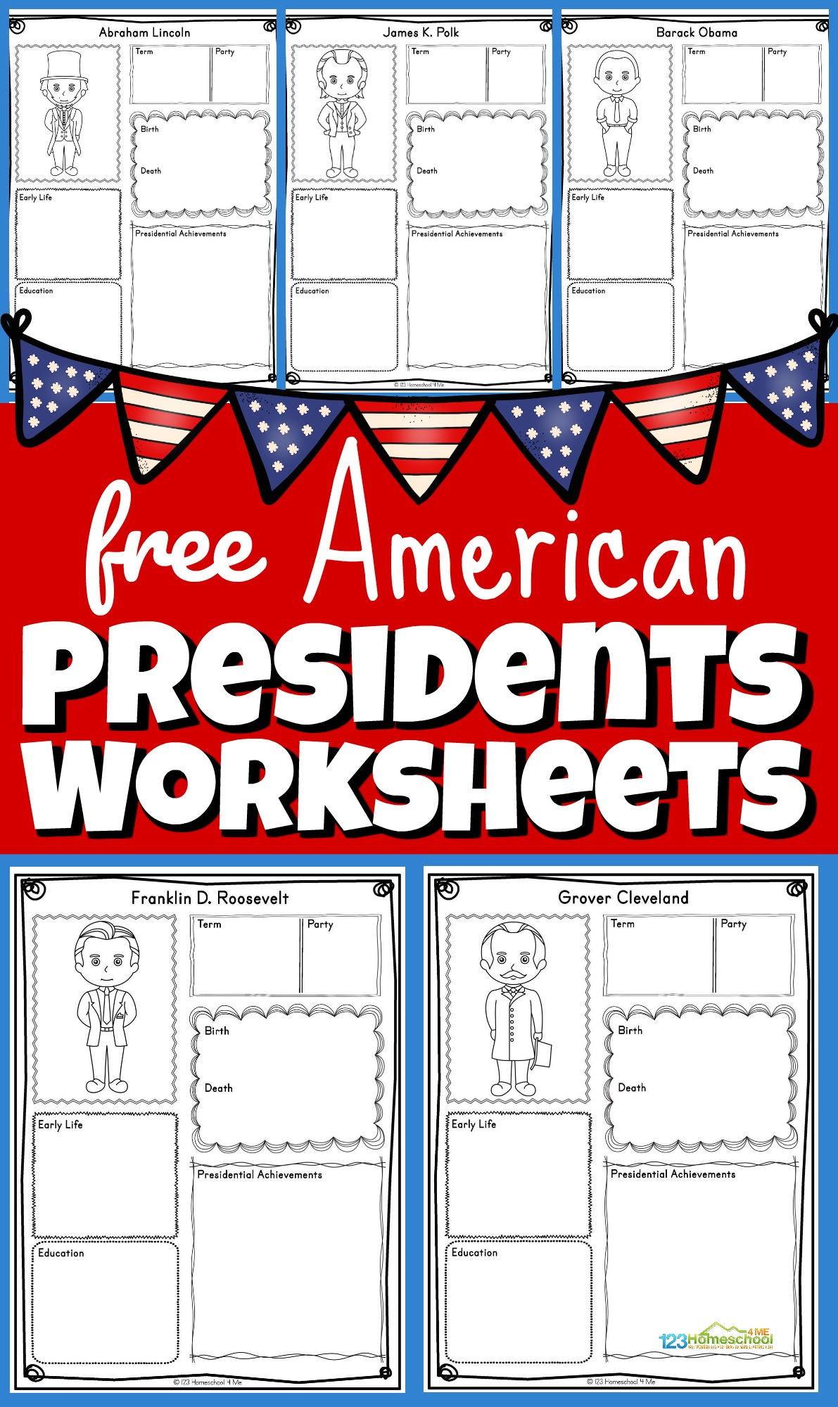 Free Presidents Worksheets