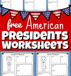 FREE Printable US Presidents Worksheets [ 1720 x 1024 Pixel ]