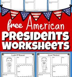 FREE Printable US Presidents Worksheets [ 1720 x 1024 Pixel ]