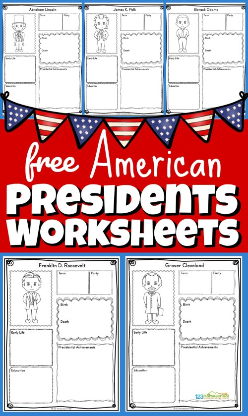 small resolution of FREE Printable US Presidents Worksheets