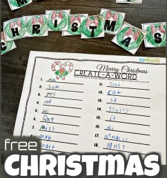 FREE Create a Word Christmas Spelling Activity [ 1425 x 1024 Pixel ]