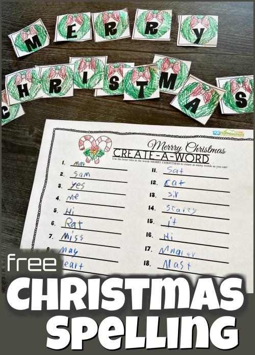 small resolution of FREE Create a Word Christmas Spelling Activity