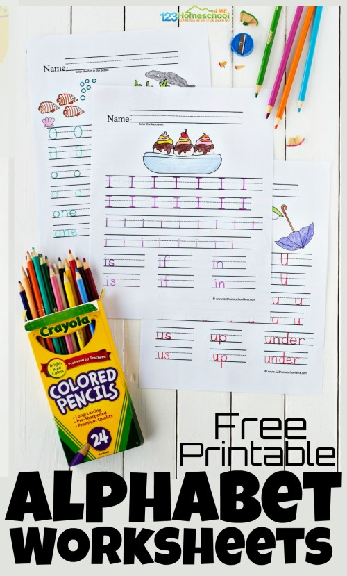 small resolution of Free Printable Alphabet Worksheets