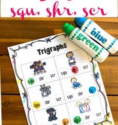 FREE Trigraph Worksheets with Do a Dot Printables [ 1500 x 1000 Pixel ]