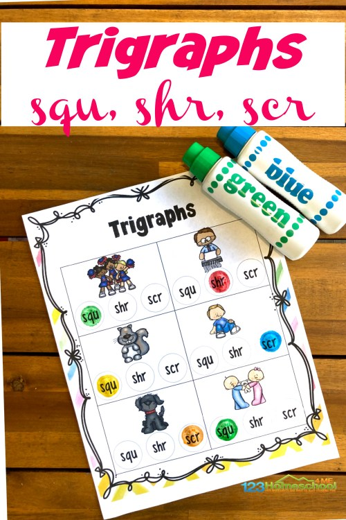 small resolution of FREE Trigraph Worksheets with Do a Dot Printables