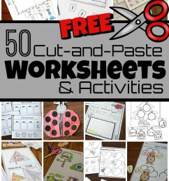 50 FREE Cut and Paste Worksheets [ 1616 x 1024 Pixel ]