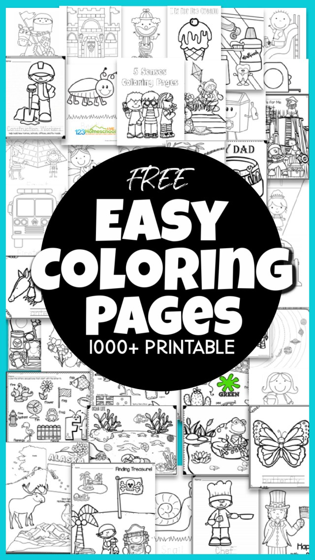 🖍️ FREE Free Printable, EASY Coloring Pages (over 30 pages!)
