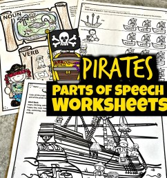 FREE Pirate Parts of Speech Worksheets [ 1024 x 1024 Pixel ]