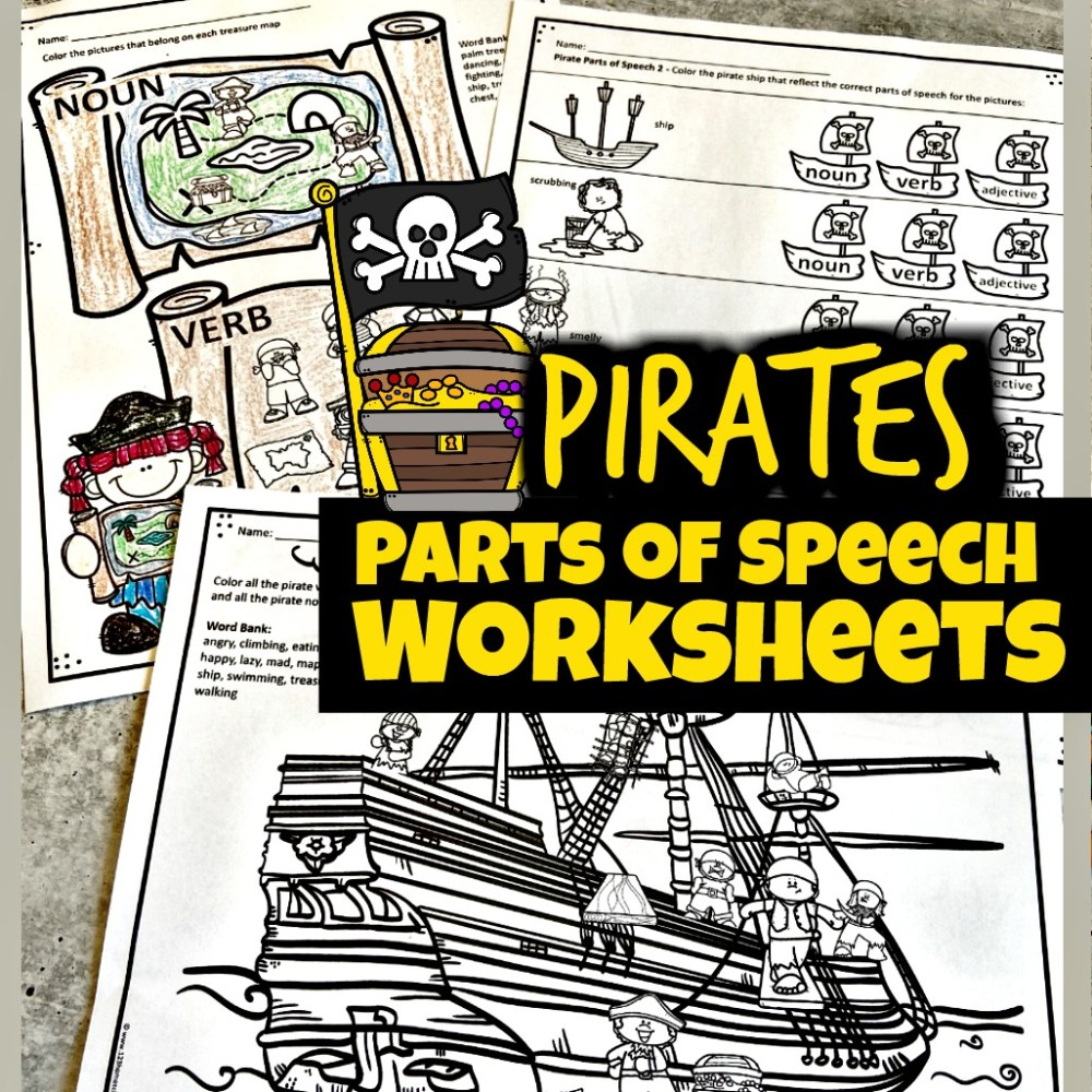 medium resolution of FREE Pirate Parts of Speech Worksheets