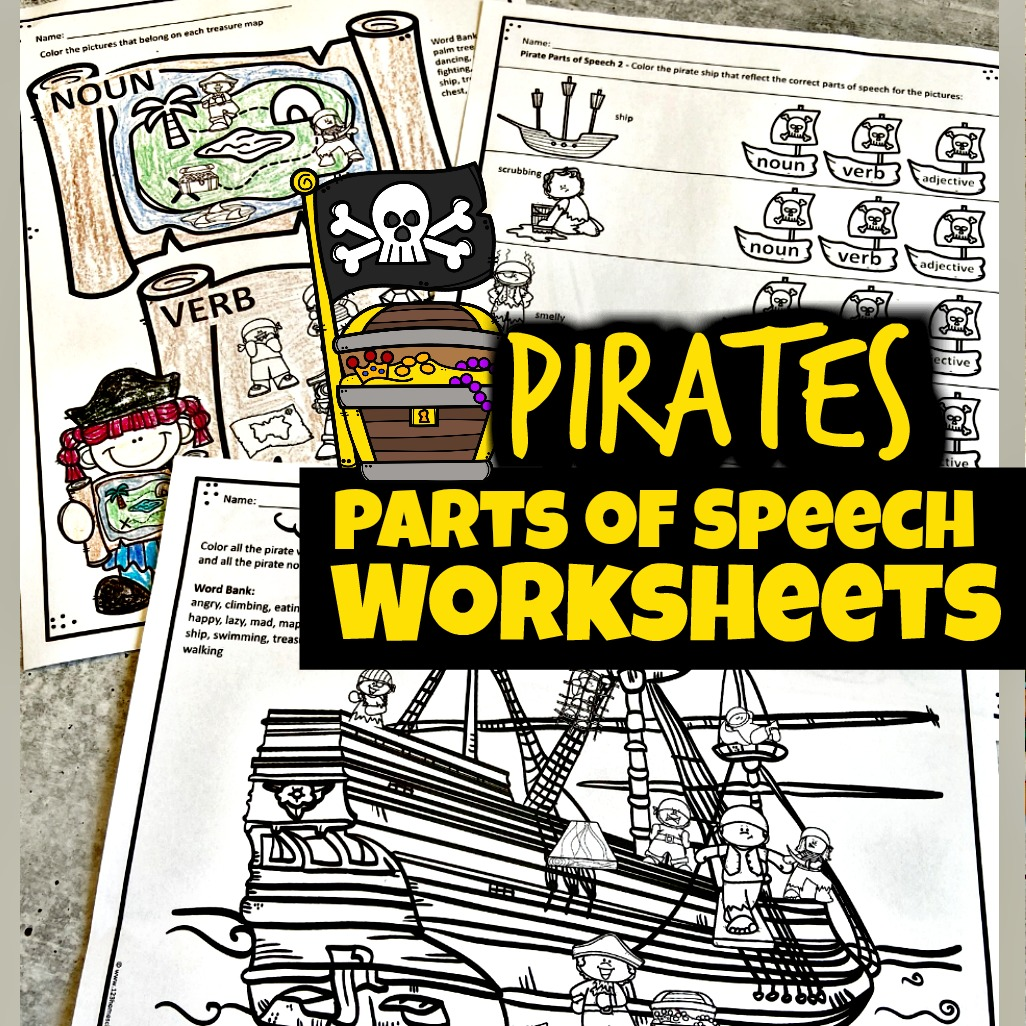 hight resolution of FREE Pirate Parts of Speech Worksheets