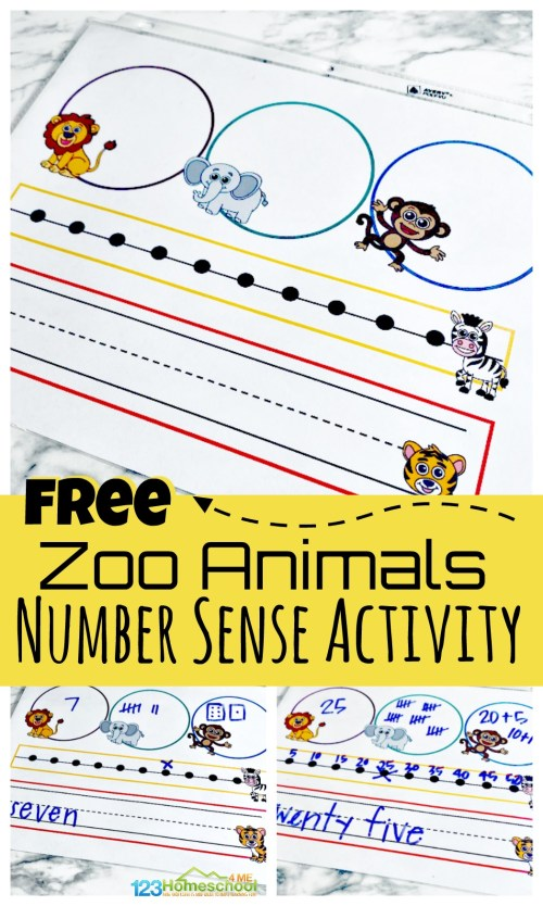 small resolution of FREE Zoo Animals Printable Number Sense Activitiy