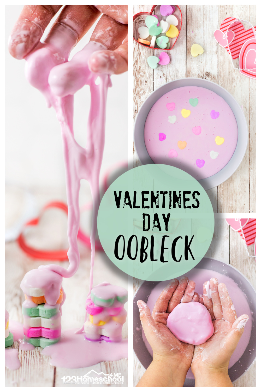 medium resolution of Valentines Day Oobleck - Science Play Activity for Kids