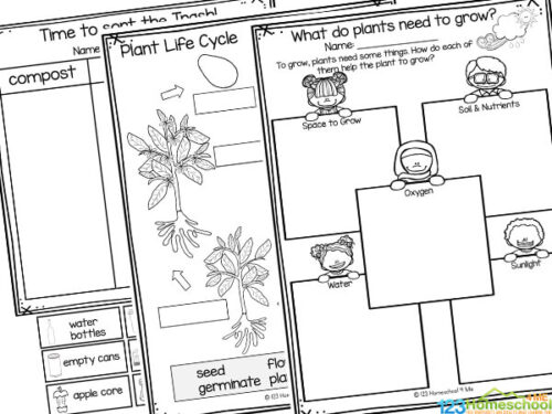 🌎 FREE Printble Earth Day Worksheets