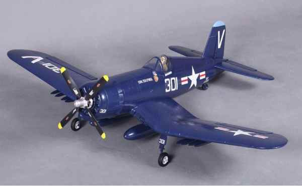 Model Aircraft Company RC Vliegtuig Corsair F-4U 8 Blue FMS 800 mm serie