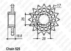 Kit chaine Aprilia Rst 1000 Futura Regina Renforcé Z-ring