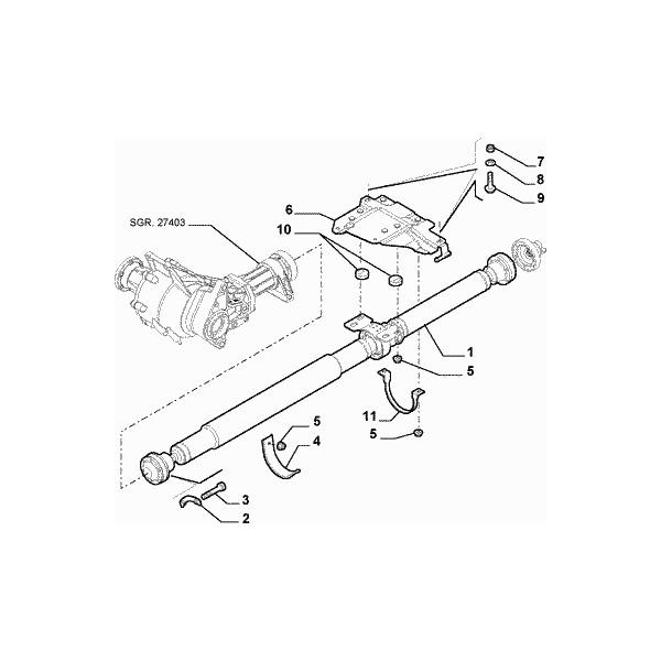 PALIER SUPPORT ARBRE de transmission ALFA ROMEO 156 Q4