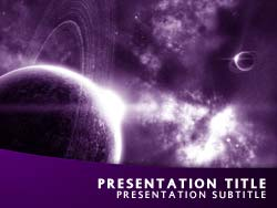 Royalty Free Universe PowerPoint Template In Purple