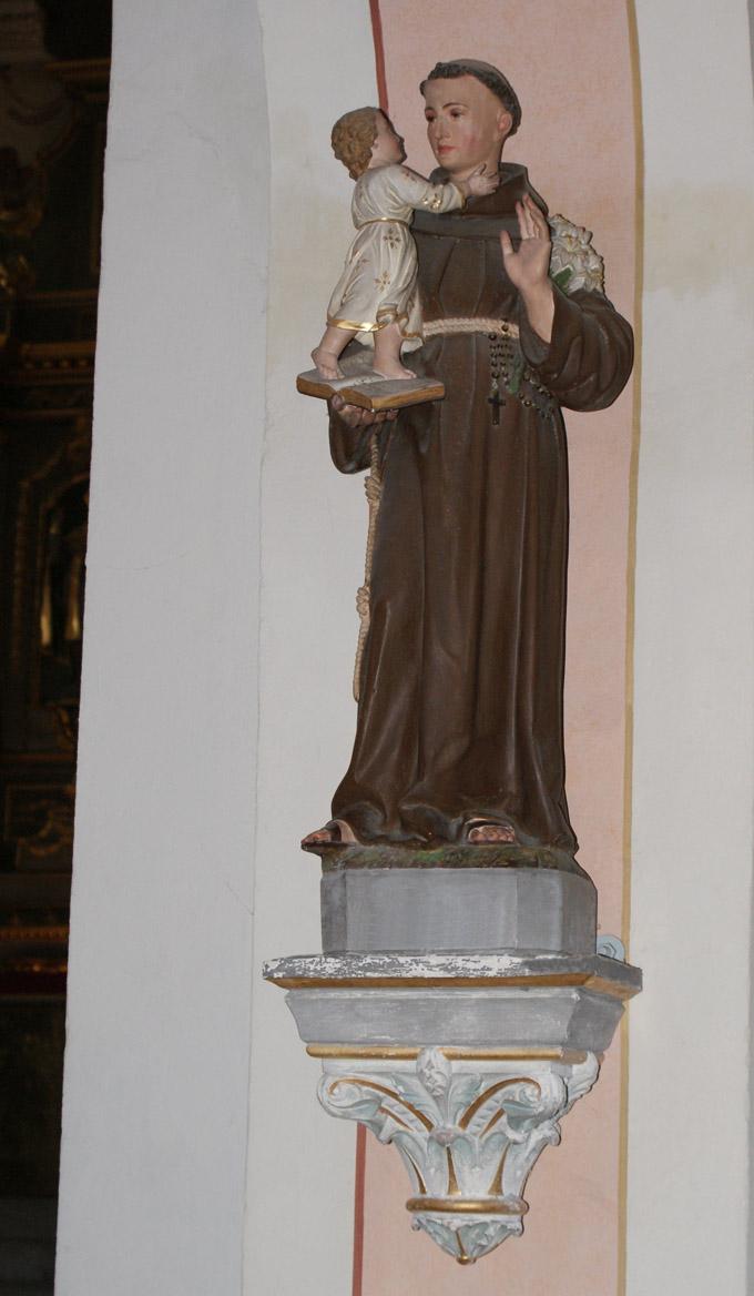 Eglise St Maxime de Beaufort Statue de St Antoine de Padoue 680x1168