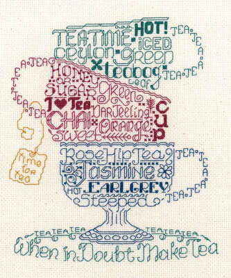 Imaginating Lets Do Tea Cross Stitch Pattern