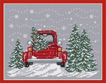 Sue Hillis Bringing Home The Tree Cross Stitch Pattern