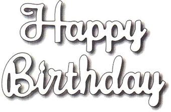 cursive font happy birthday