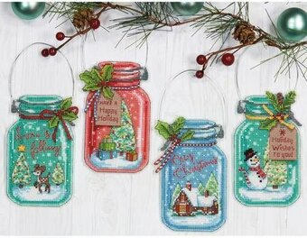 Christmas Ornaments Cross Stitch Kits