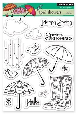 Penny Black April Showers Clear Stamp 30 172