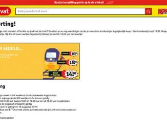 Kruidvat goedkoop treinkaartje met korting