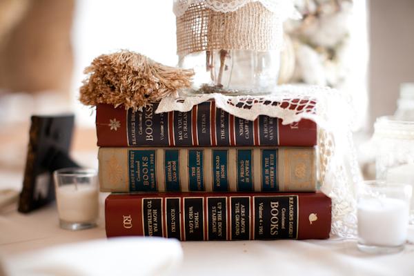 Library Wedding Centerpieces