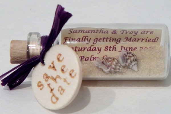 Message In A Bottle Wedding Invitations: Message In A Bottle Wedding Invitation
