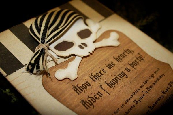 Pirate Themed Wedding Invitation