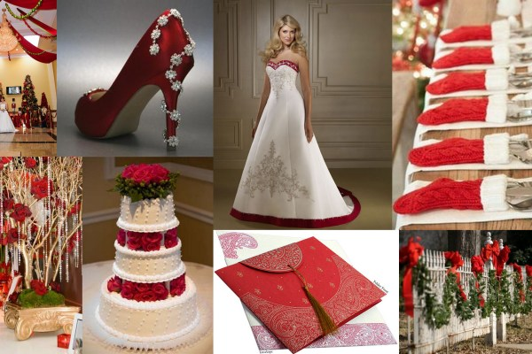 Christmas wedding theme