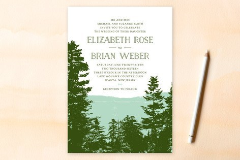 Mountain View Wedding Invitations-123weddingcards