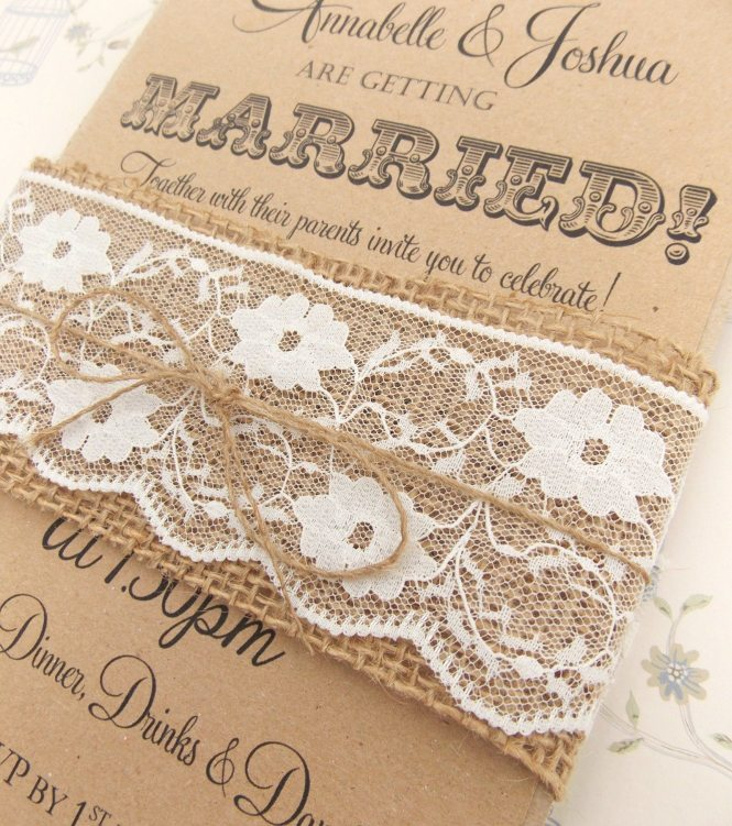 Rustic Wedding Invitation Kits With Elegant Appearance For Design Ideas 5