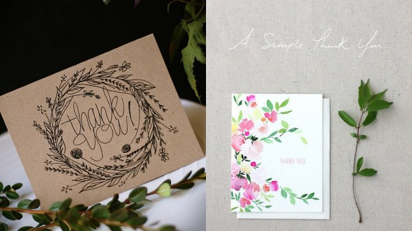 Floral Thank You Cards- 123WeddingCards