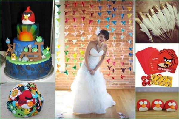 Angry bird inspired Wedding Theme - 123WeddingCards