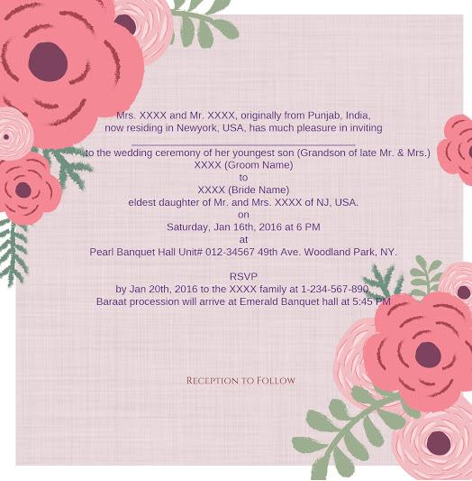 Invitation wordings- 123WeddingCards