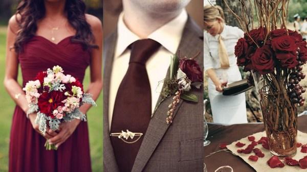 Marsala wedding inspiration- 123WeddingCards