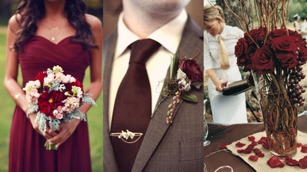 Marsala wedding inspiration- 123WeddingCards