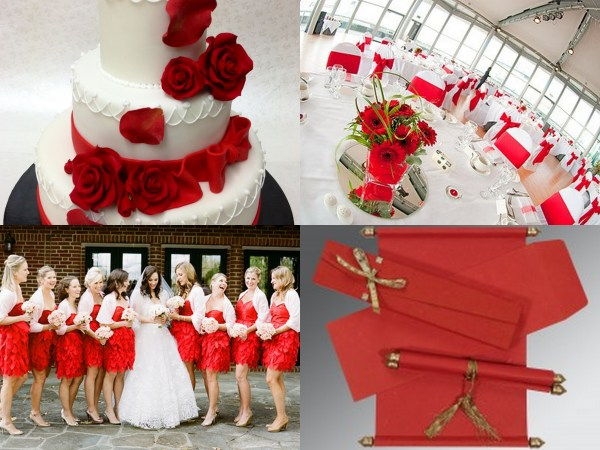 Red Color Wedding Theme