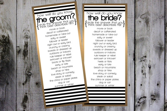 Wedding Games 2016 | 123WeddingCards