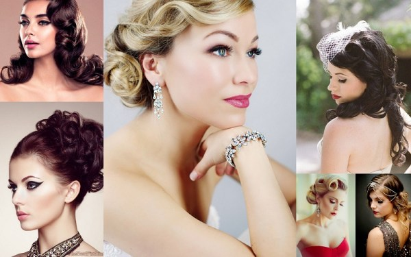 Retro Glam Wedding Hairstyle