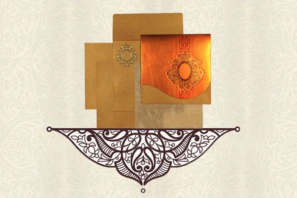 Golden Wedding Card | 123WeddingCards