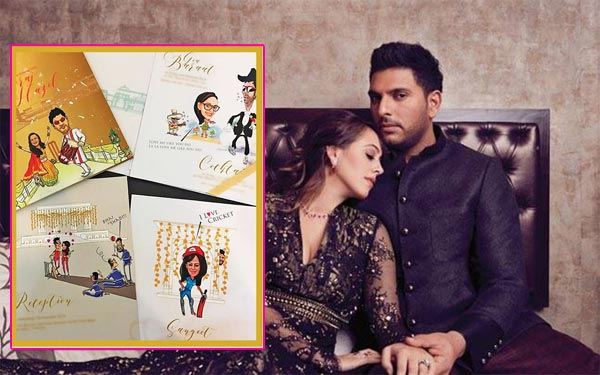 Yuvraj and Hazel's Wedding Invitation