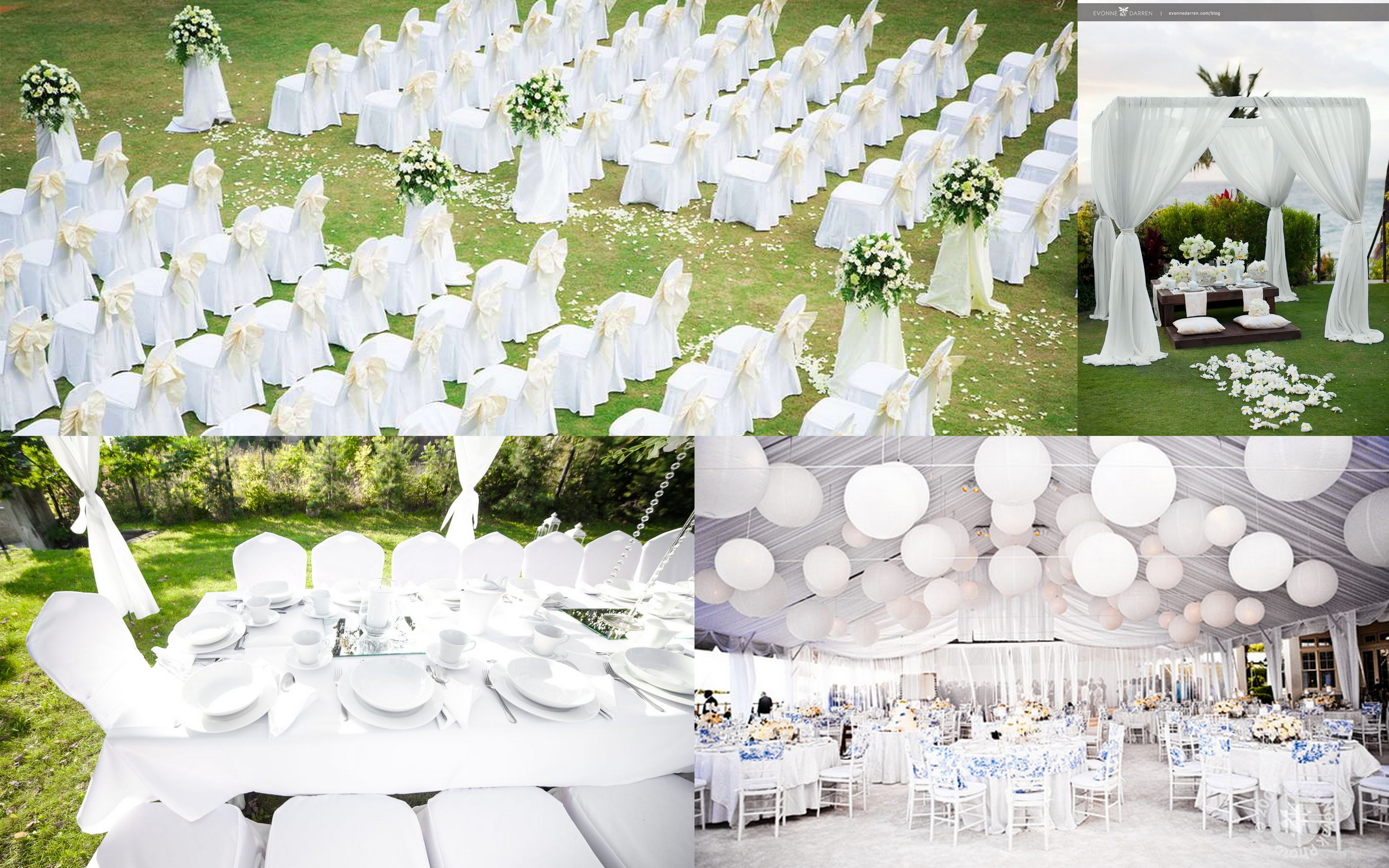 Pure White Theme Wedding Ideas and Inspirations